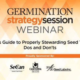 A Retailer's Guide to Properly Stewarding Seed Treatments, A Germination Strategy Session Webinar & Podcast