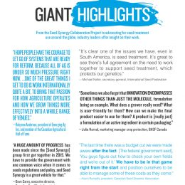 Industry Leaders Offer Us Insight on Issues of the Day: Giant Highlights